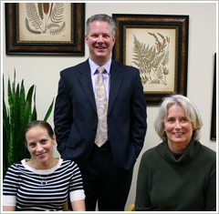Dr. Erika Nelson, Dr. Rob Sinnott and Jane Ramberg